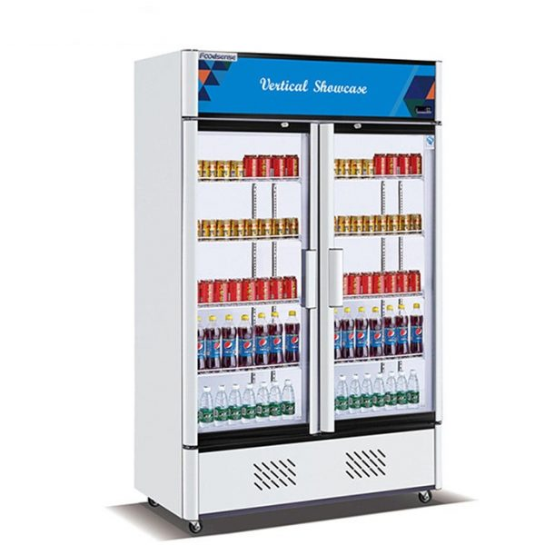 Double Door Showcase Cooler With Dynamic Cooling,Refrigerator For Beverages