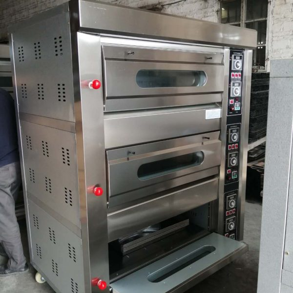 Gas Deck Oven 3 Deck 6 Tray
