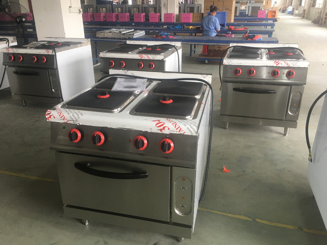4-Plate Electric Cooker with Oven