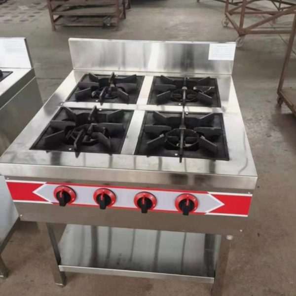 4 burner industrial Gas cooker without Oven
