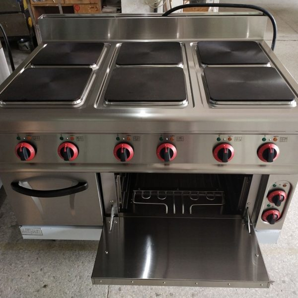 6-Plate Electric Cooker with Oven
