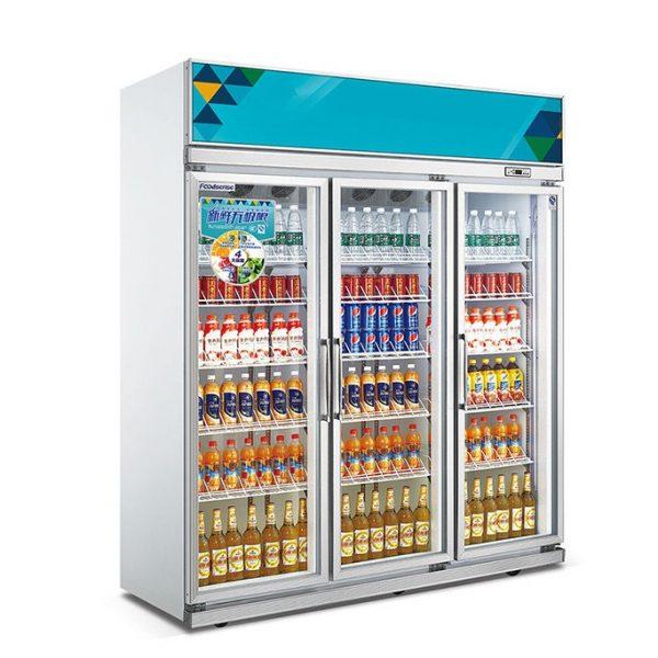 Commercial Glass Door Beverage Cooler Refrigerator