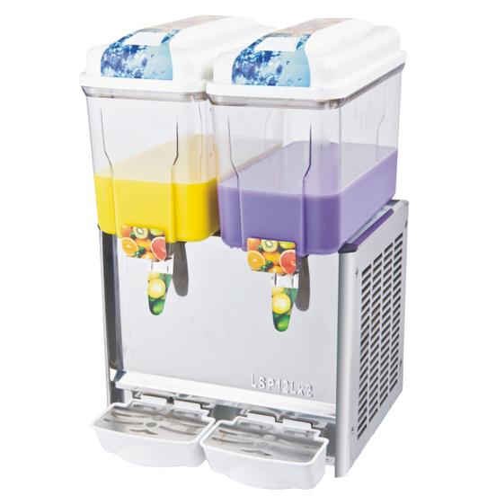 Double Bowl Each 12 Liters Commercial Juice Dispenser Machine
