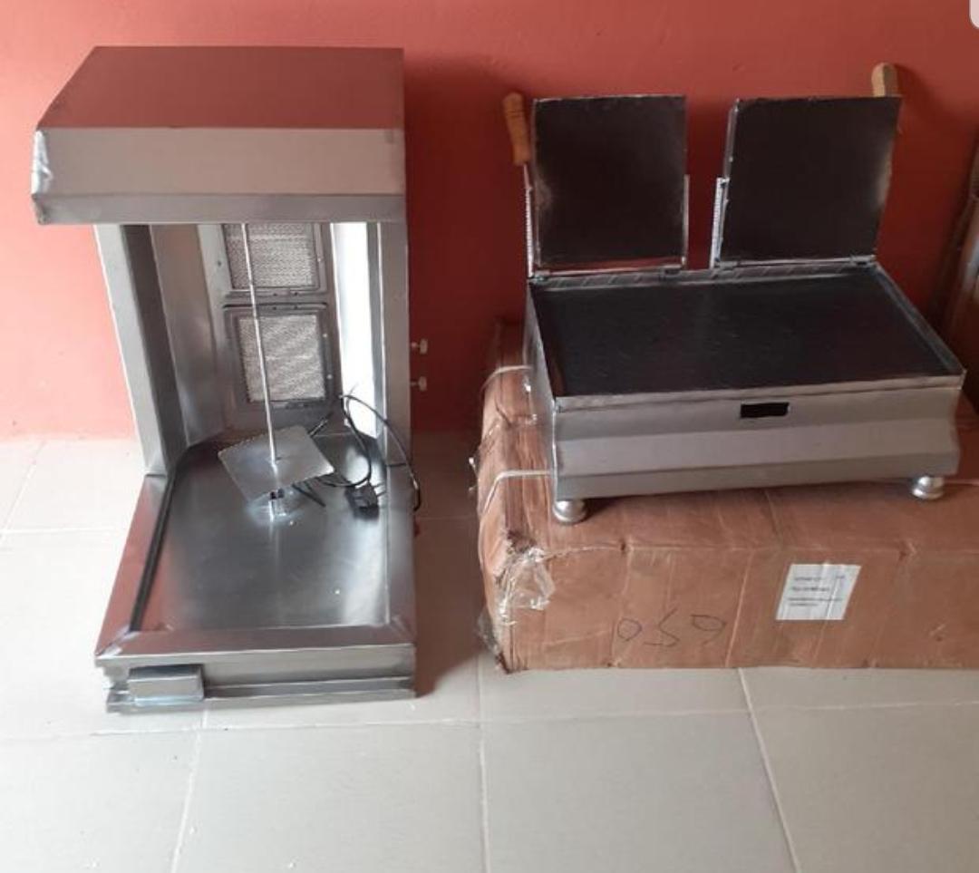 Gas sharwama machine set