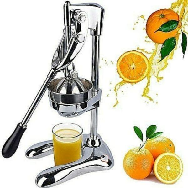 Orange Manual Juicer