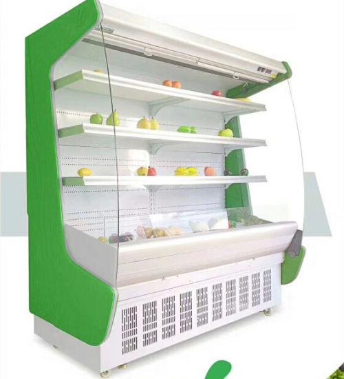 Multideck-Open-Chiller-Supermarket-Vegetable-Display-Refrigerator