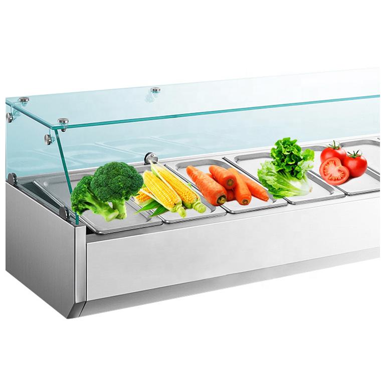 Salad bar refrigerator restaurant equipment cold showcase