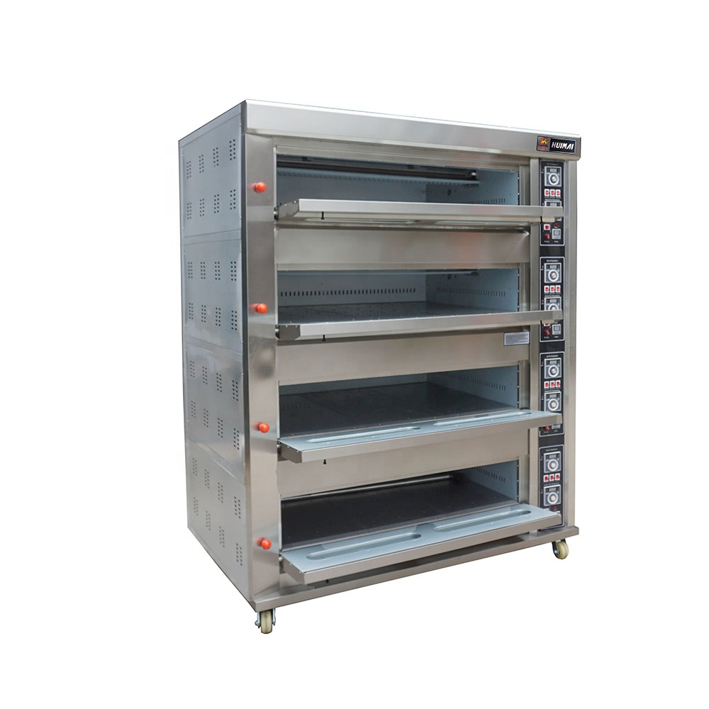 Stainless Steel 4 Deck 16 Trays Gas Deck Oven (1)