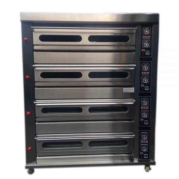 Stainless Steel 4 Deck 16 Trays Gas Deck Oven (2)