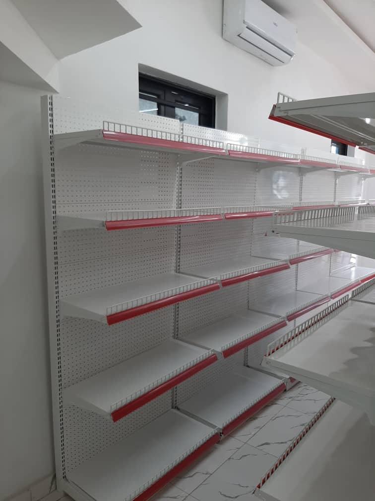 Supermarket steel display