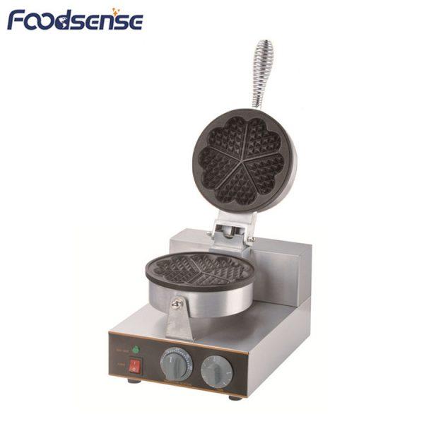 Commercial 1KW 1-Plate Heart Shape Waffle Stick Maker Machine