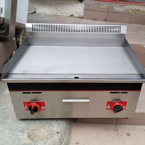 Stainless Steel Flat Plate Natural Gas Grill Griddle.