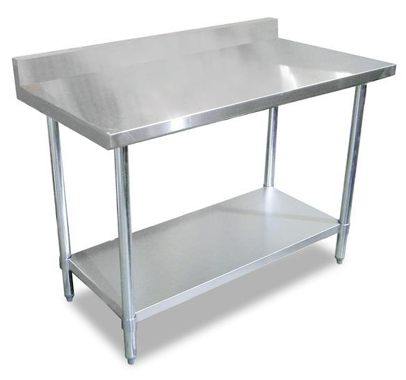stainless steel work table with splash 5ft