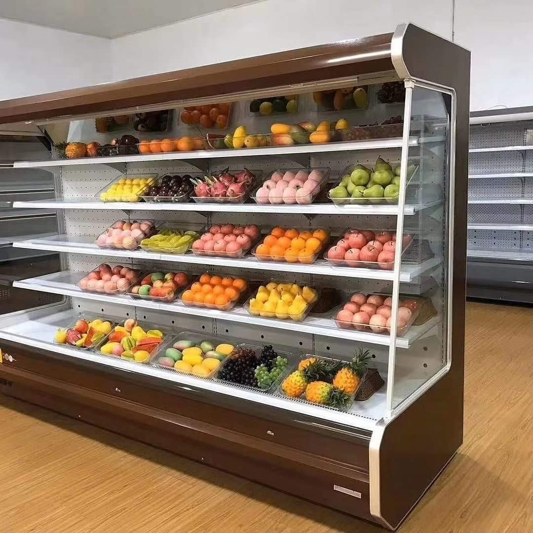 supermarket beverage display
